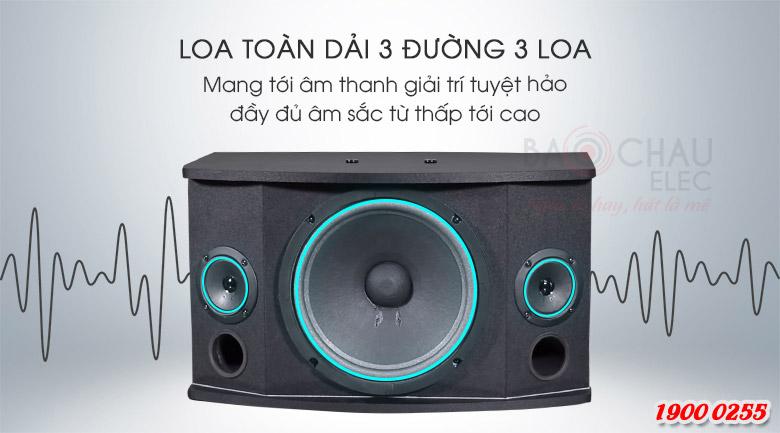 Loa BMB CSN 500 (C) Like New 98% kết cấu gồm 3 loa, cho ra 2 đường tiếng