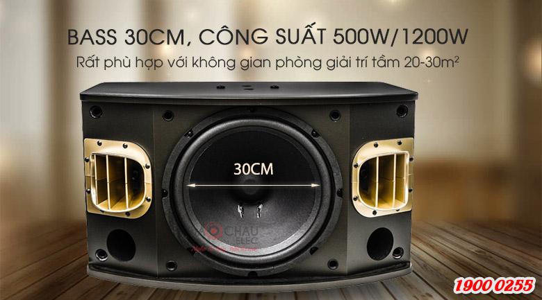 Loa karaoke BMB CSV 900SE cấu tạo gồm 3 củ loa