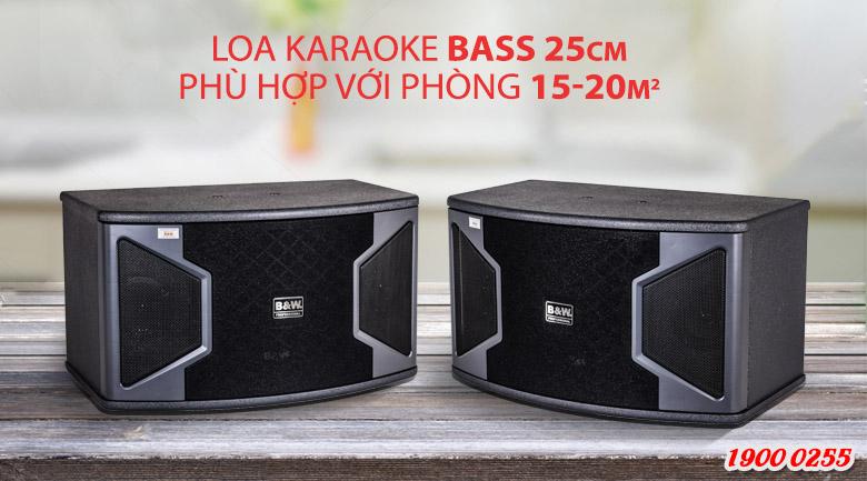Loa karaoke B&W 2628 trang bị bass 25cm