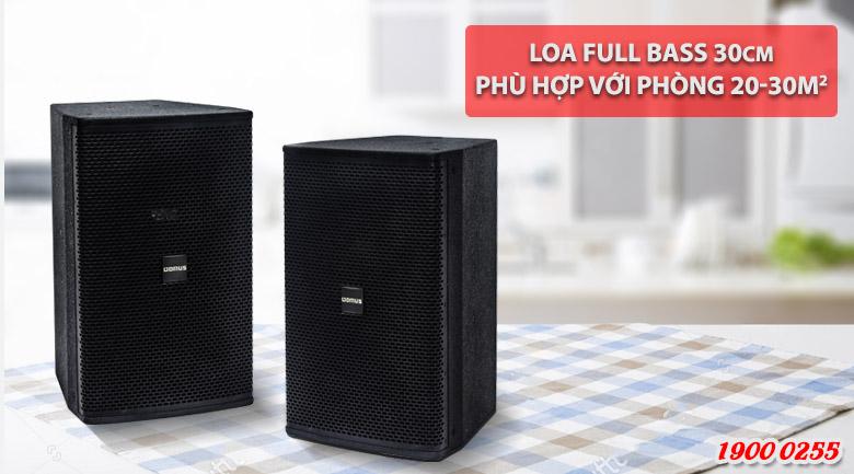 Loa karaoke Domus DP 6120 chuyên dụng cho hát karaoke và nghe nhạc