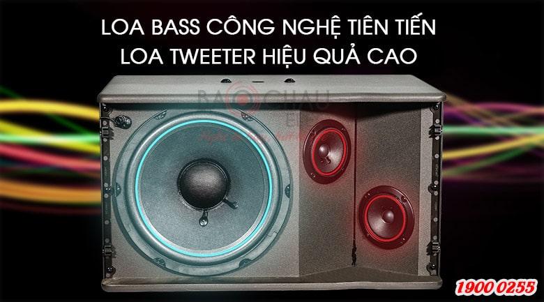 Loa karaoke JBL MK10 là hệ thống 2 loa, 2 đường tiếng
