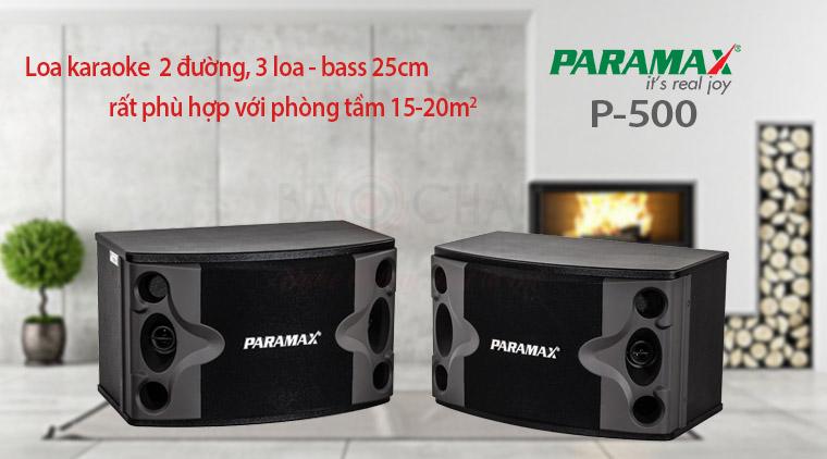 Loa karaoke Paramax P500 hát cực hay