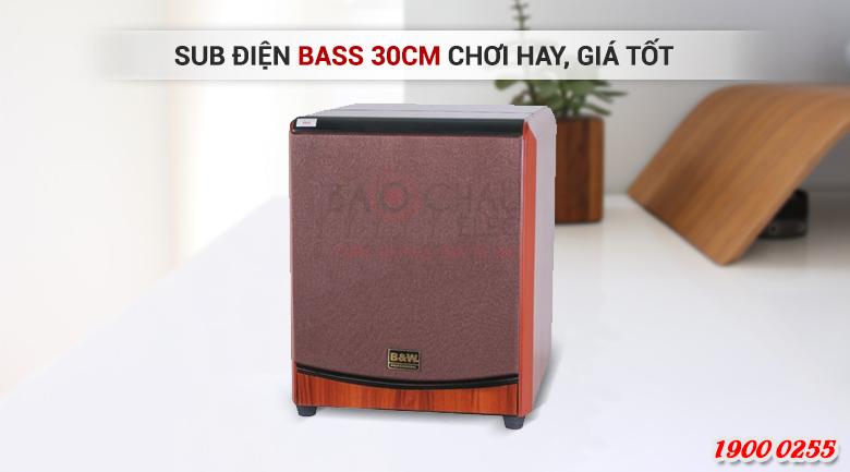 Loa sub B&W 604-8 No cho âm trầm sâu chắc