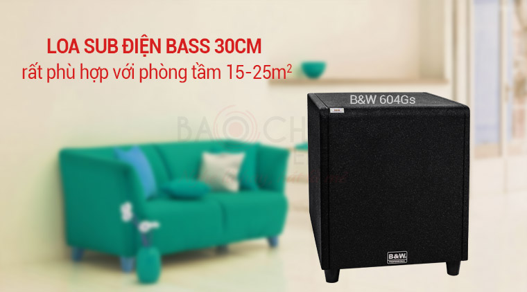 Loa Sub điện B&W 604Gs (bass 30)