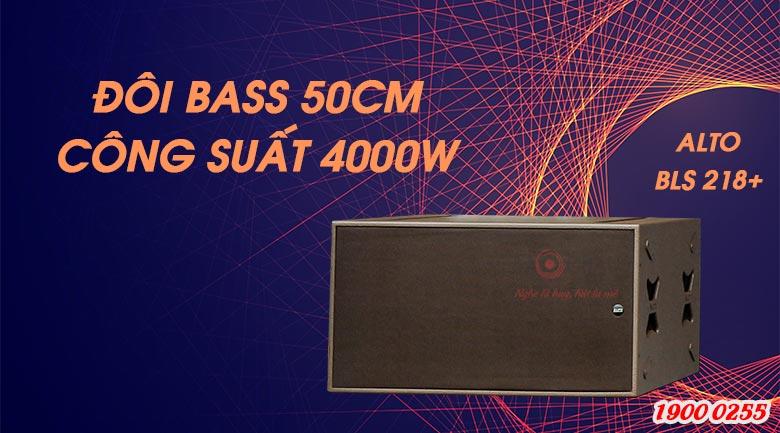 Loa Sub hơi Alto BLS 218+ sử dụng 2 củ bass 50cm