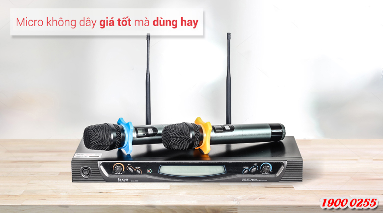 Micro không dây BCE U900 hát nhẹ