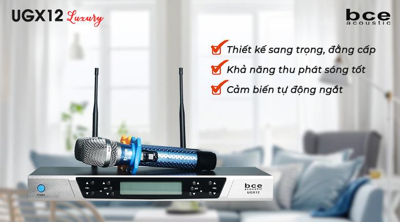 Micro không dây BCE UGX12 Luxury sử dụng sóng siêu cao UHF
