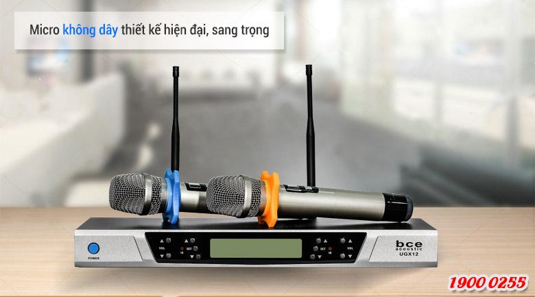Micro không dây BCE UGX12 độ nhạy cao, hát nhẹ