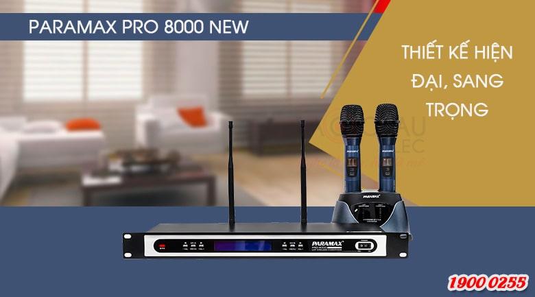 Micro không dây Paramax Pro 8000 New thể hiện giọng hát trung thực, cho âm thanh chuẩn