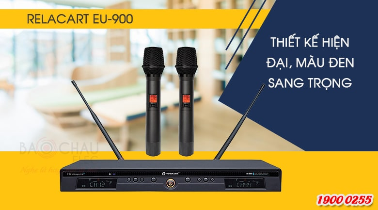 Micro không dây Relacart EU-900 thiết kế hiện đại, màu sắc sang trọng