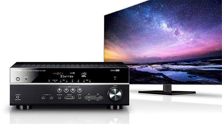 Amply Yamaha RX-V385 (Black) cho âm thanh vòm mạnh mẽ 5 kênh