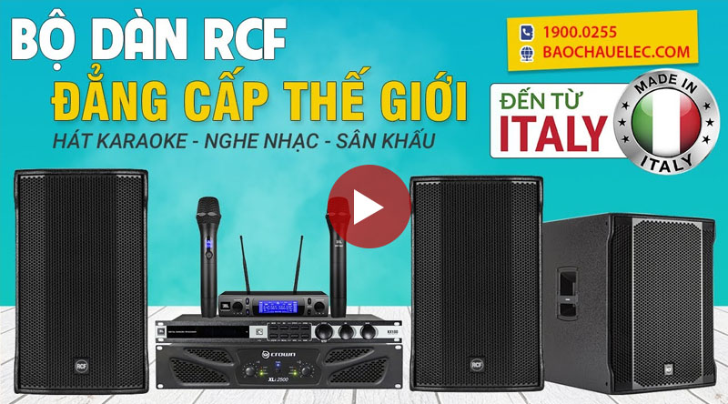 Dàn karaoke gia đình cao cấp RCF 09