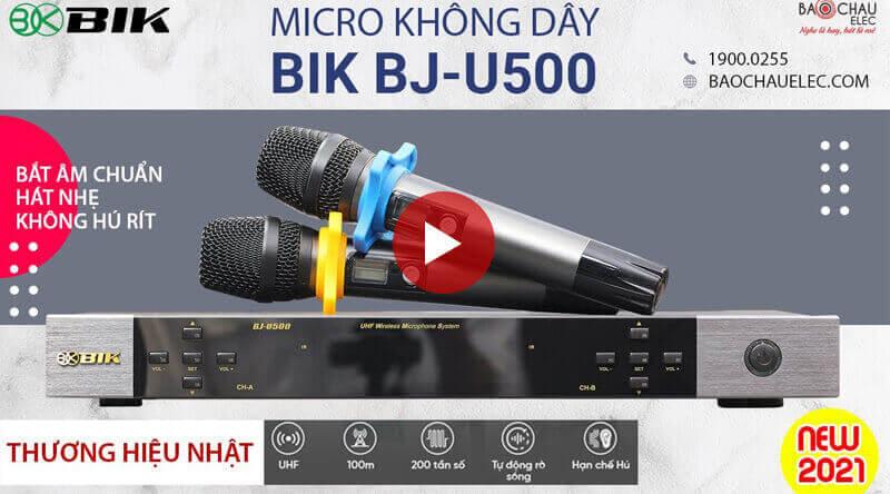 video đánh giá micro không dây bik bj u500