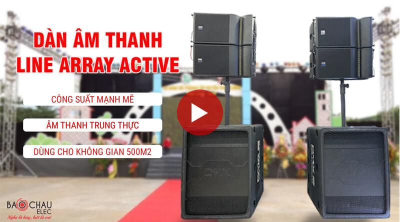 giới thiệu dàn âm thanh line array active dmx