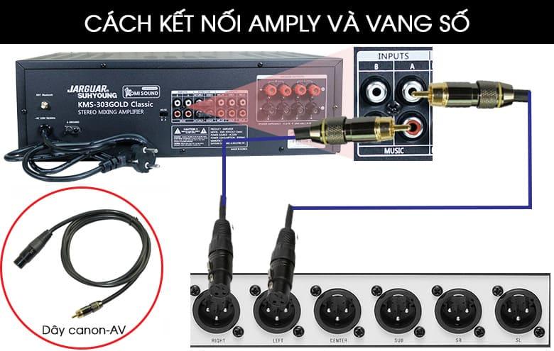 Cách kết nối amply và vang số