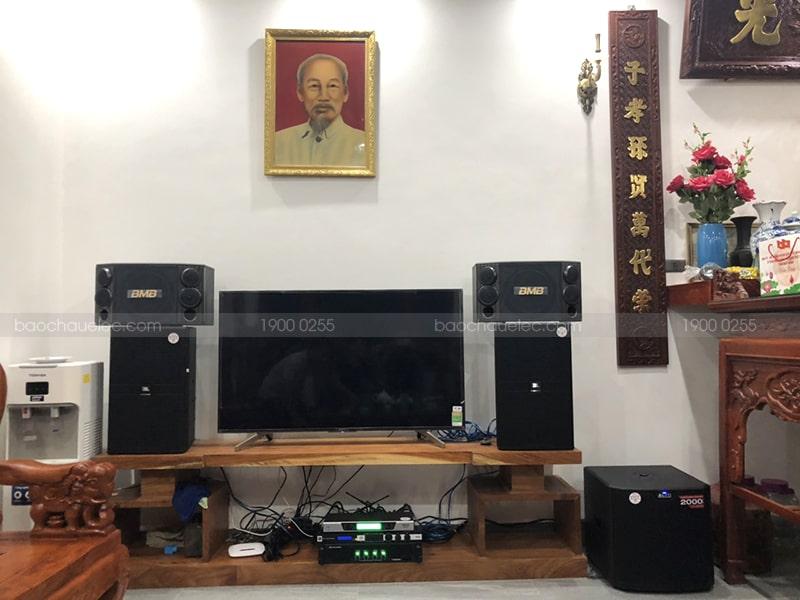 dàn karaoke cao cấp cho gia đình anh Kiên - Bắc Ninh