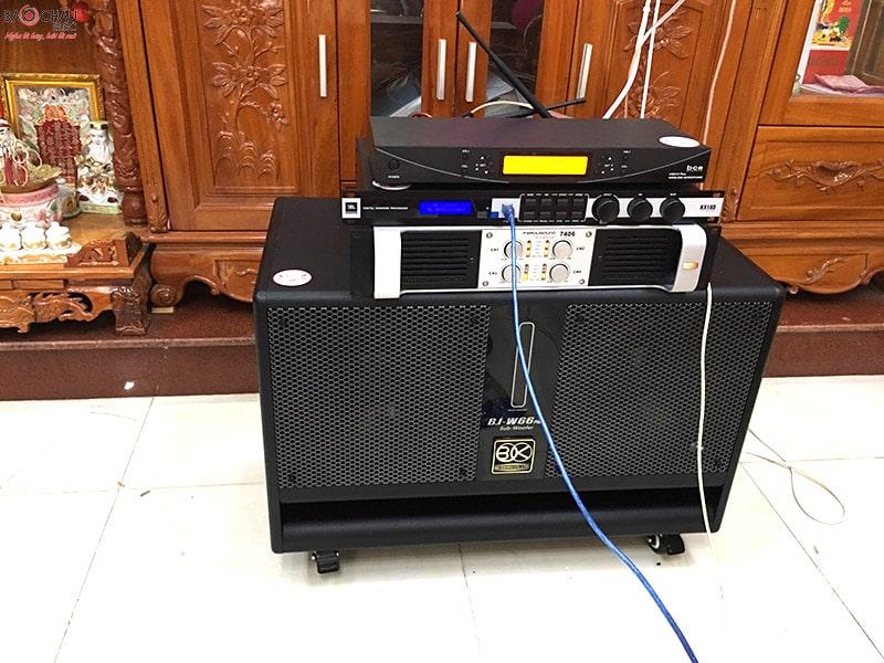 Bộ dàn karaoke hơn 50 triệu của gia đình anh Toàn