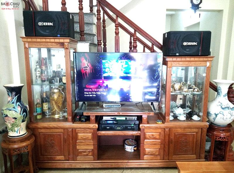 Bộ dàn karaoke BIK dưới 20 triệu của gia đình anh Minh ở Hồng Bàng, Hải Phòng