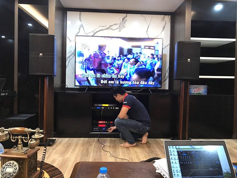Dàn karaoke JBL cao cấp được Bảo Châu Elec Hà Nội setup cho gia đình chú Khánh