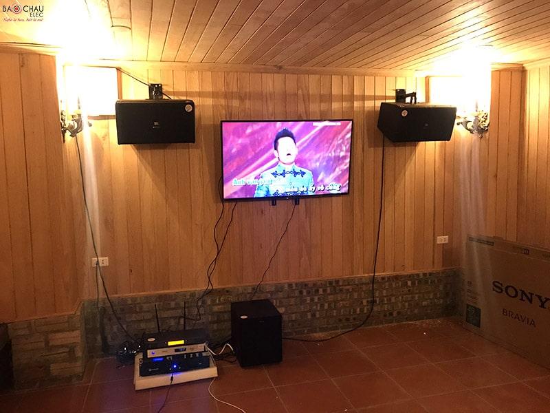 Bộ dàn karaoke JBL cao cấp của gia đình anh Linh ở Hòai Đức - Hà Nội