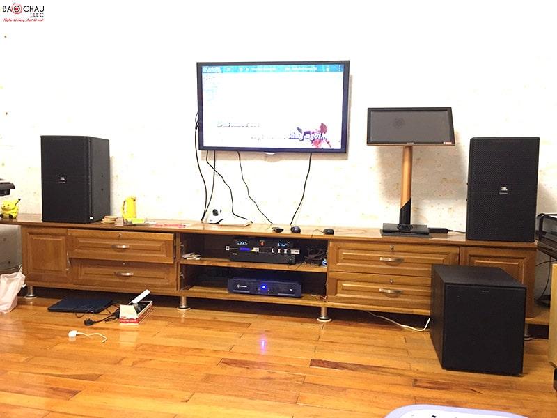 Dàn karaoke Bảo Châu Elec Hà Nội tư vấn và lắp đặt cho khách hàng có sự góp mặt của loa sub