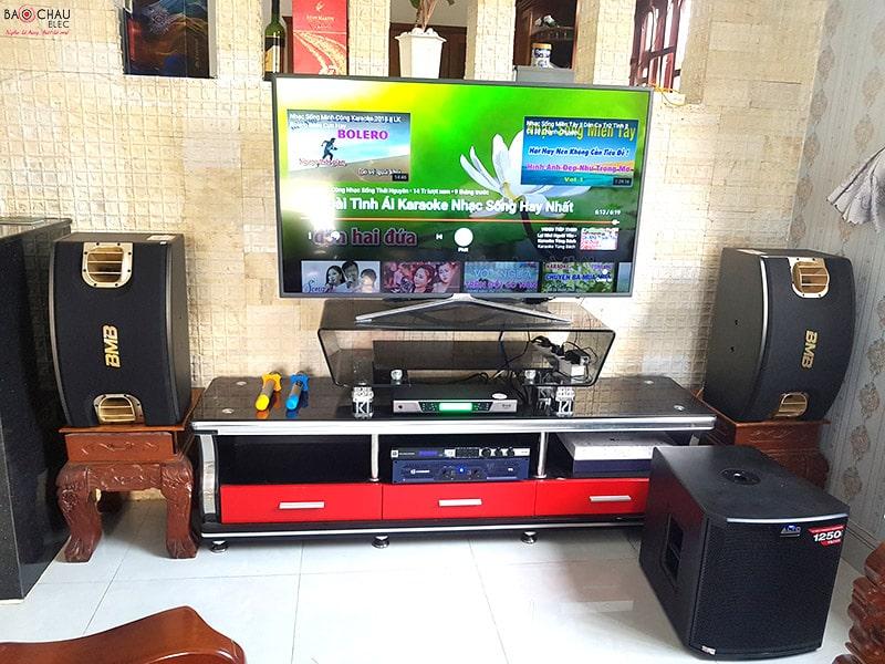 Dàn karaoke BMB của anh Dũng sử dụng loa sub Alto TS212S