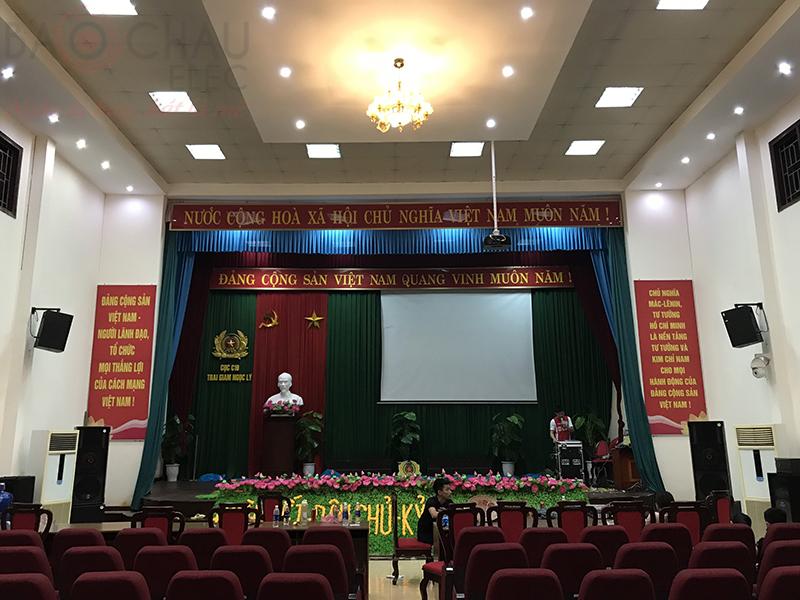Lắp dàn âm thanh hội trường cho Trại giam Ngọc Lý – Bắc Giang h12