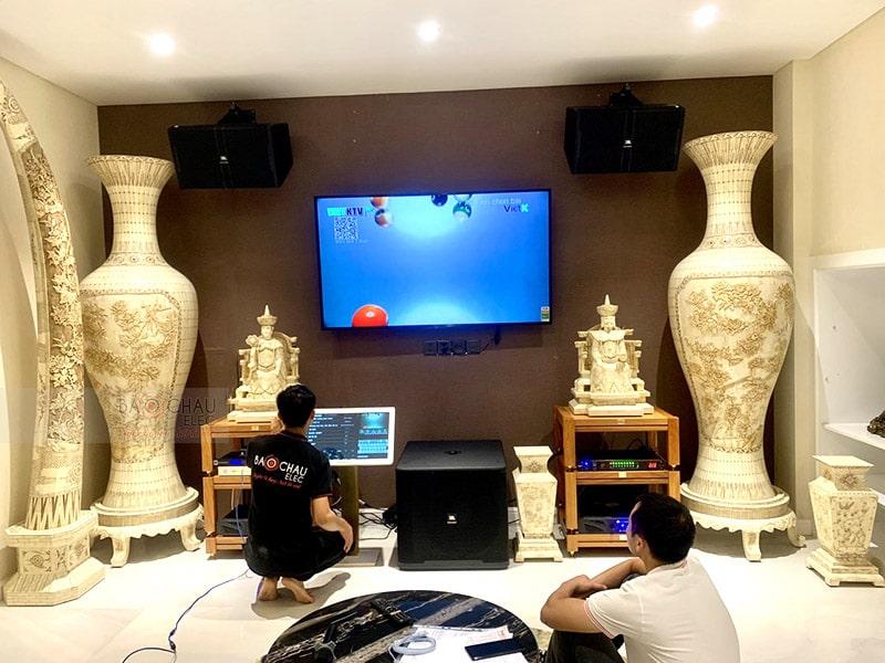 Dàn karaoke JBL VIP cho gia đình anh Hà ở HCM h6