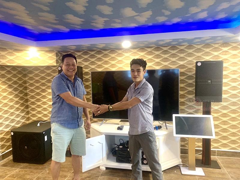 Khách hàng tại TP. Hồ Chí Minh mua dàn karaoke cho gia đình tại Bảo Châu Elec