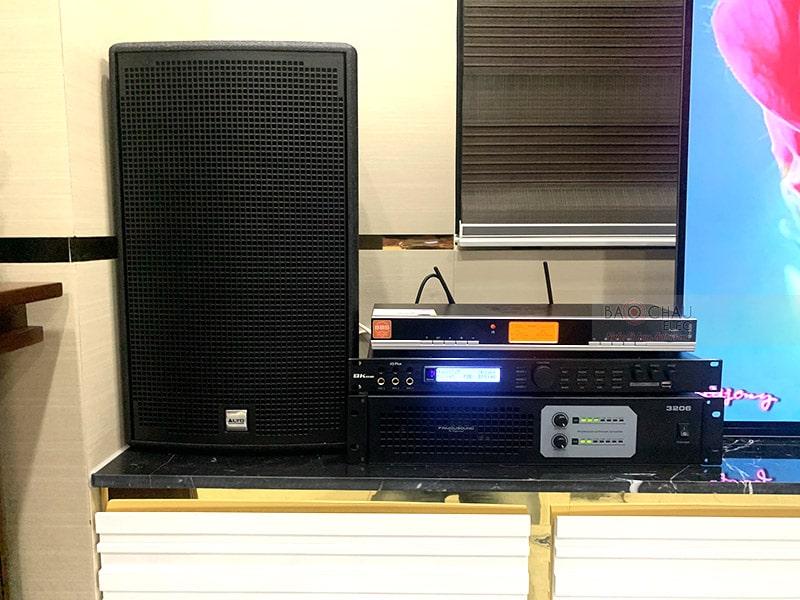 Lắp đặt dàn karaoke Alto cho gia đình anh Tư ở Cần Thơ h2
