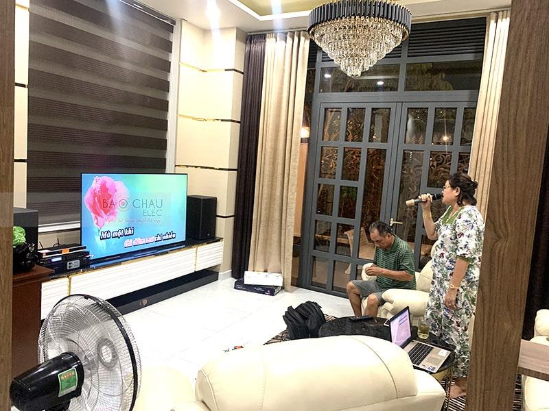 Lắp đặt dàn karaoke Alto cho gia đình anh Tư ở Cần Thơ h4