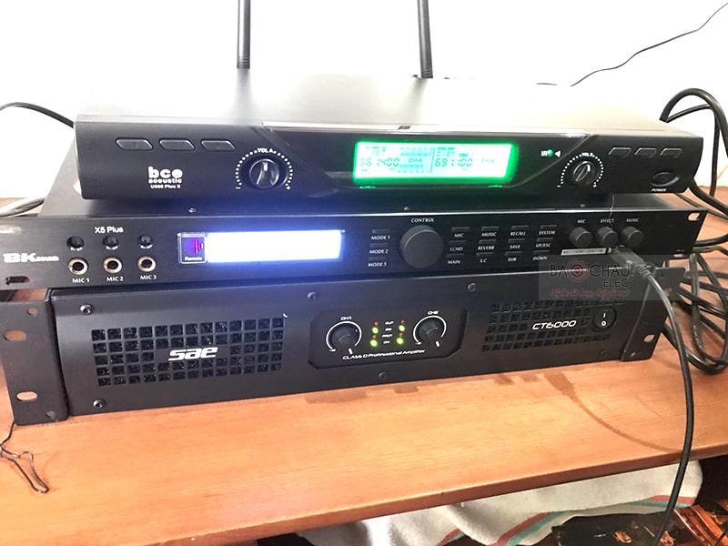 Combo Cục đẩy công suất SAE CT6000 và Vang số BKsound X5 Plus
