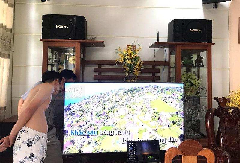 Trọn bộ dàn karaoke BIK cho gia đình anh Phước ở Cần Thơ