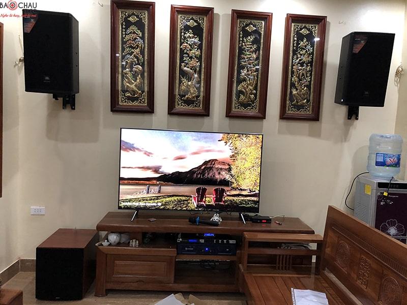 dàn karaoke JBL cho gia đình chị Mùi ở Thanh Trì