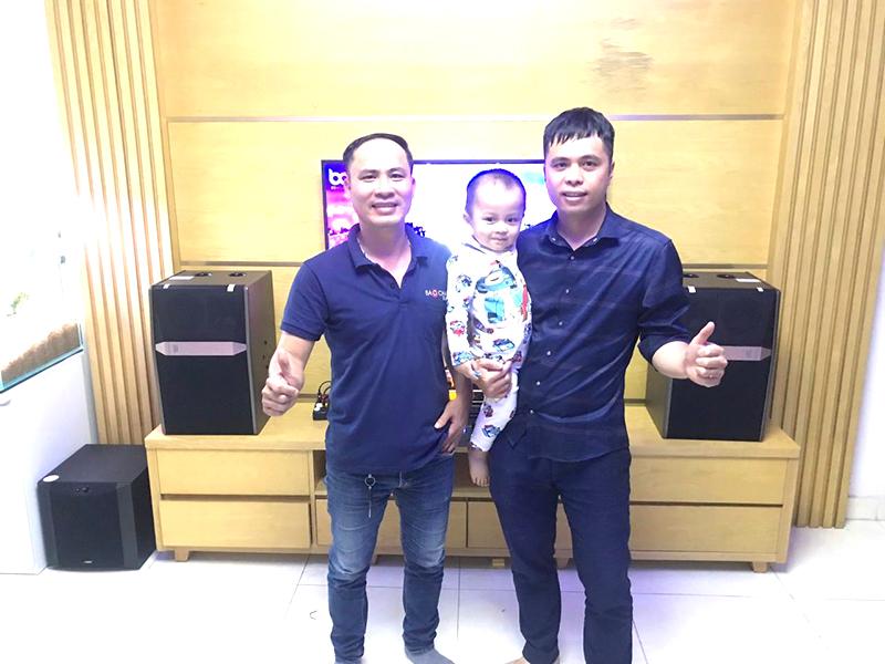Lắp đặt dàn karaoke JBL cho gia đình anh Đoàn ở Hải An