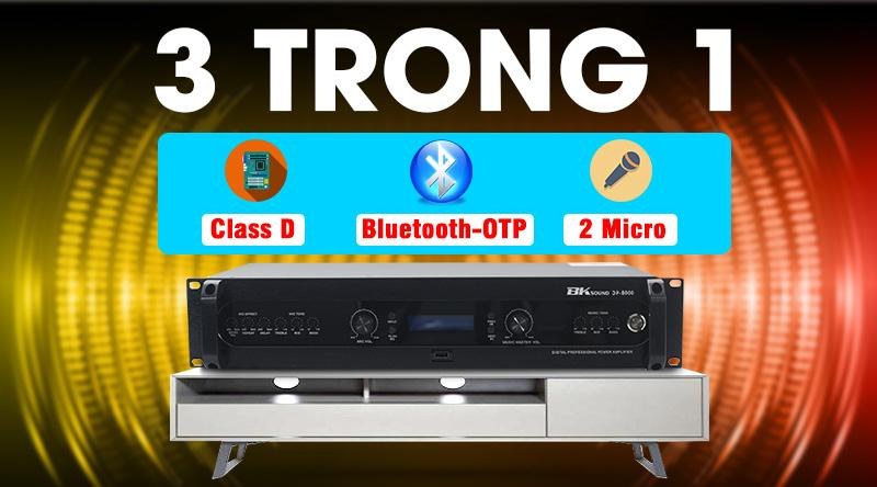 Đẩy liền vang kèm micro không dây BKSound DP8000 hát cực hay