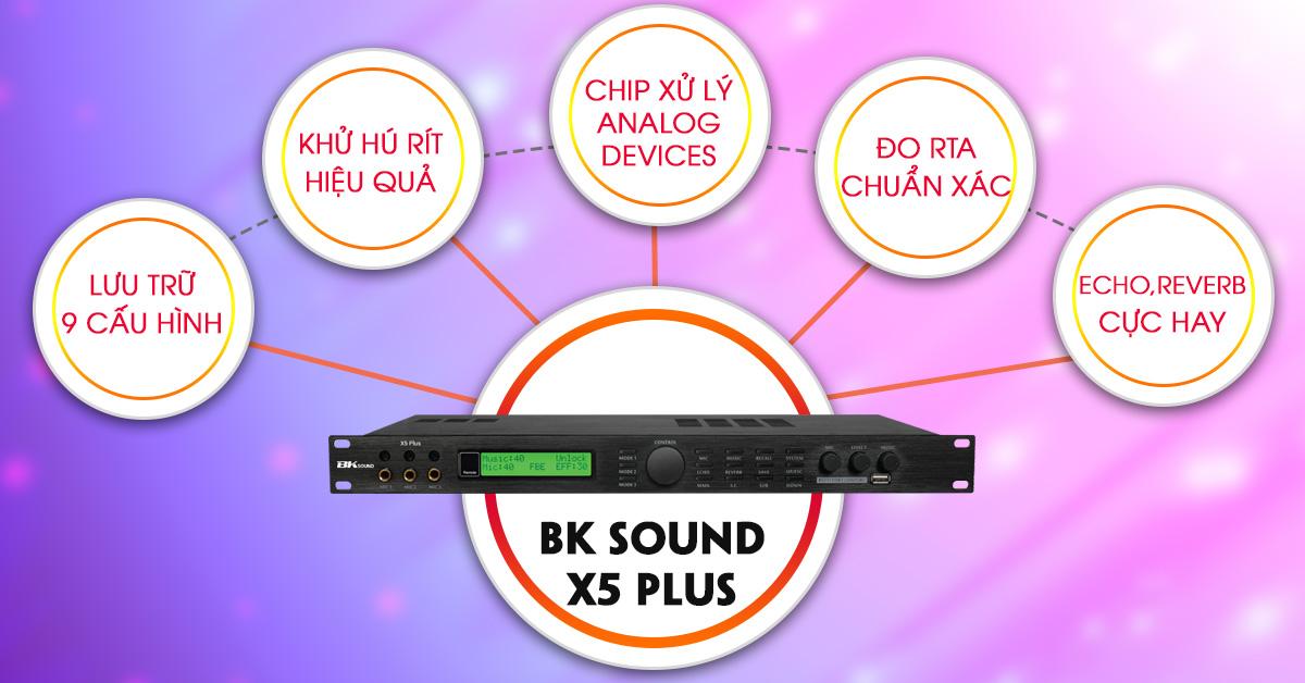Vang số BKSOund X5 Plus tính năng cao cấp