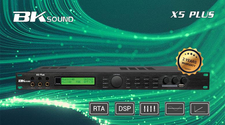 Vang số BKSound X5 Plus được trang bị công nghệ chống hú hiện đại, các tính năng cao cấp