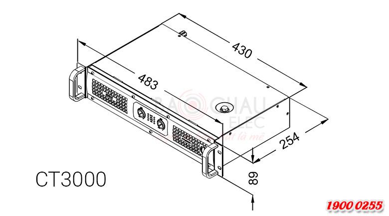 Cục đẩy SAE CT3000 tương đối nhỏ gọn