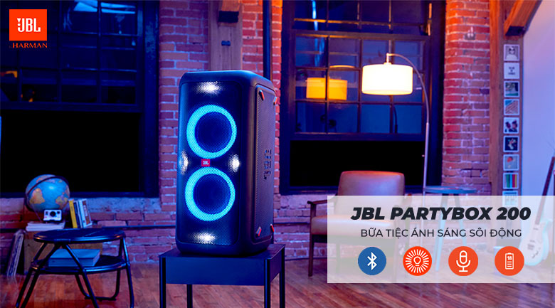Loa JBL PartyBox 200 chính hãng giá tốt