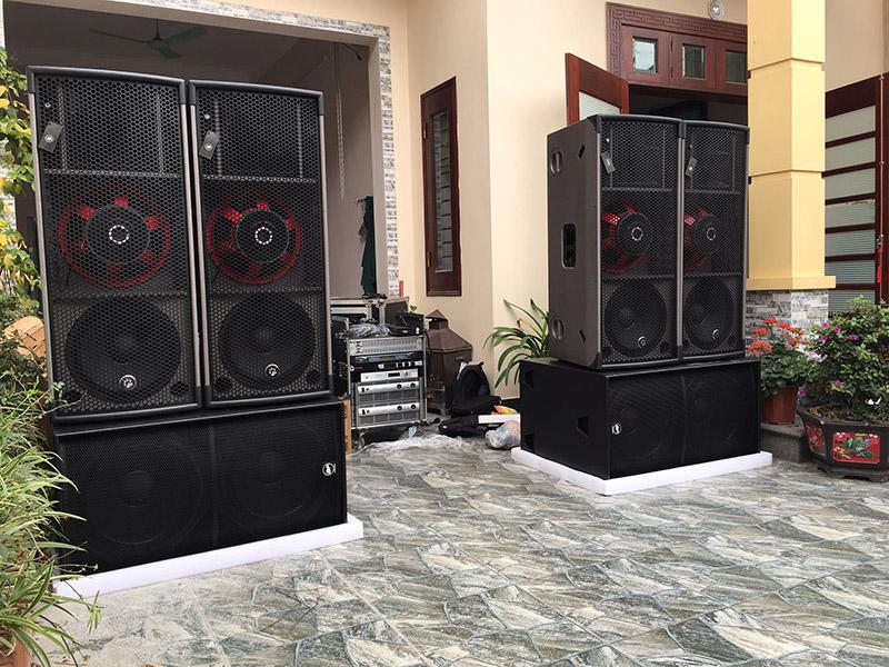 dàn âm thanh nhạc sống đám cưới khủng tại Bắc Giang