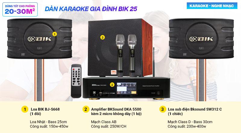 Dàn karaoke gia đình BIK 25