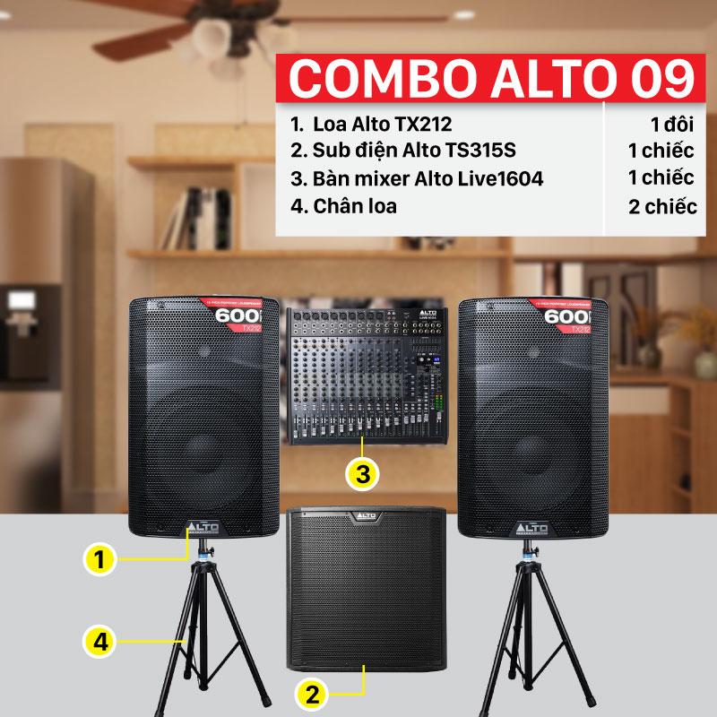 Combo Alto 09 chính hãng, giá rẻ nhất thị trường