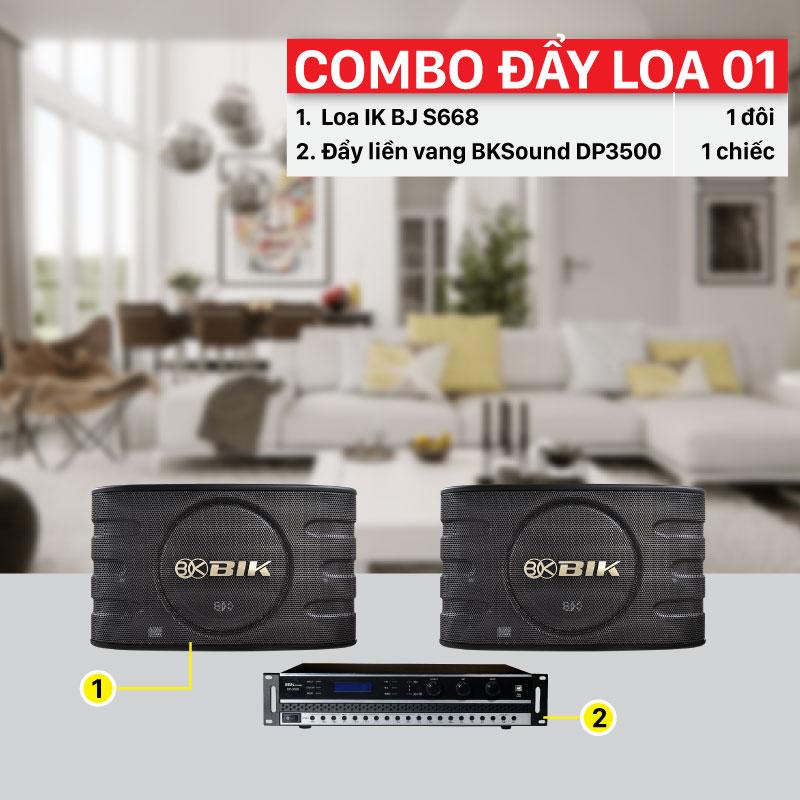 Combo đẩy loa 01 thiết bị chính hãng, giá rẻ nhất thị trường