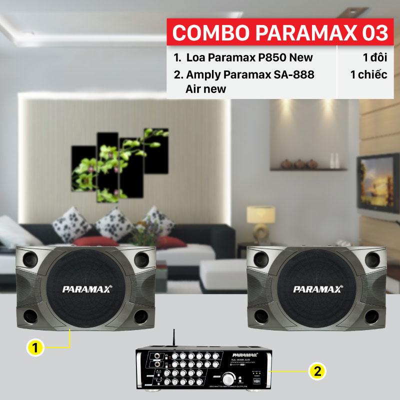 Combo Paramax 03 thiết bị cấu hình chính hãng, giá rẻ
