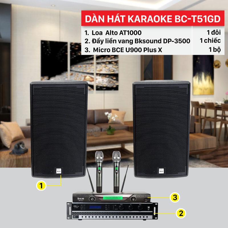Dàn hát karaoke gia đình BC-T51GD chính hãng, giá rẻ nhất