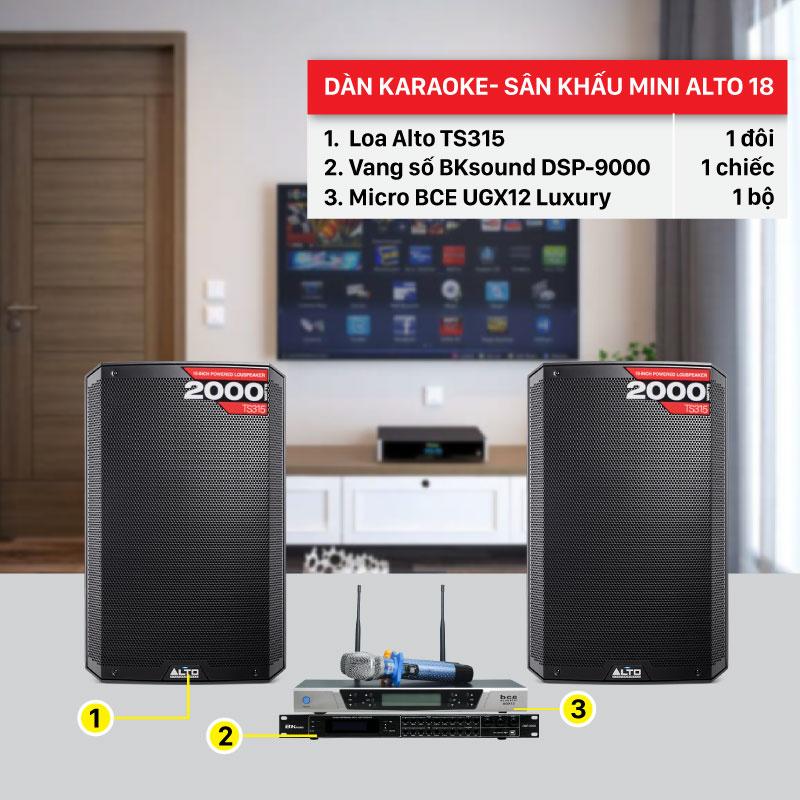 Dàn karaoke BC-Alto 18 cấu hình thiết bị chính hãng, giá rẻ nhất