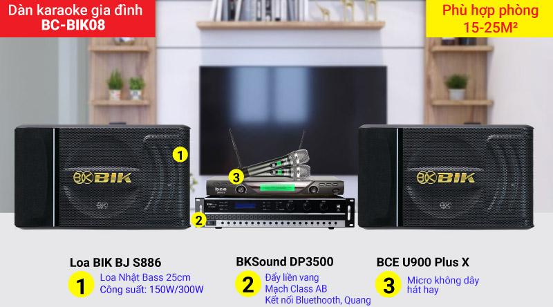 Dàn karaoke gia đình BC-BIK08 chất âm hay, cấu hình phù hợp