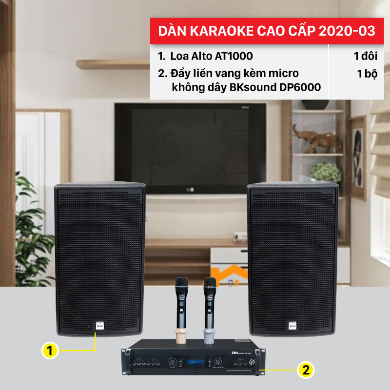 Dàn karaoke gia đình hay nhất hiện nay