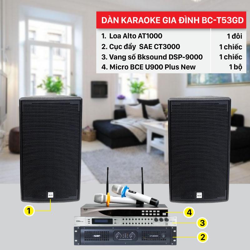 Dàn karaoke gia đình BC-T53GD chính hãng, giá rẻ